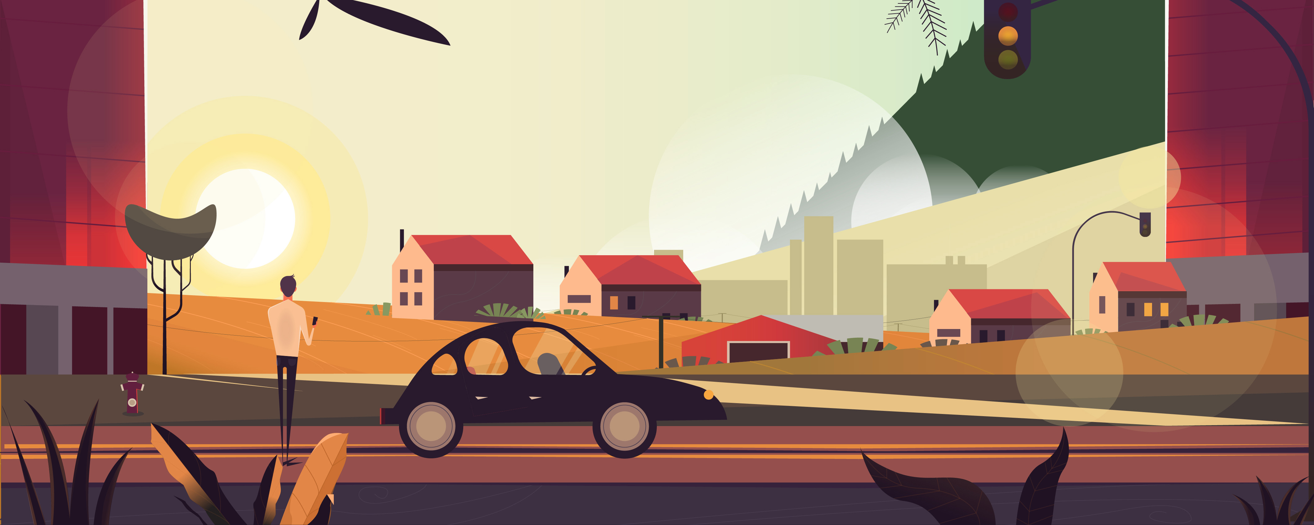 Car scene