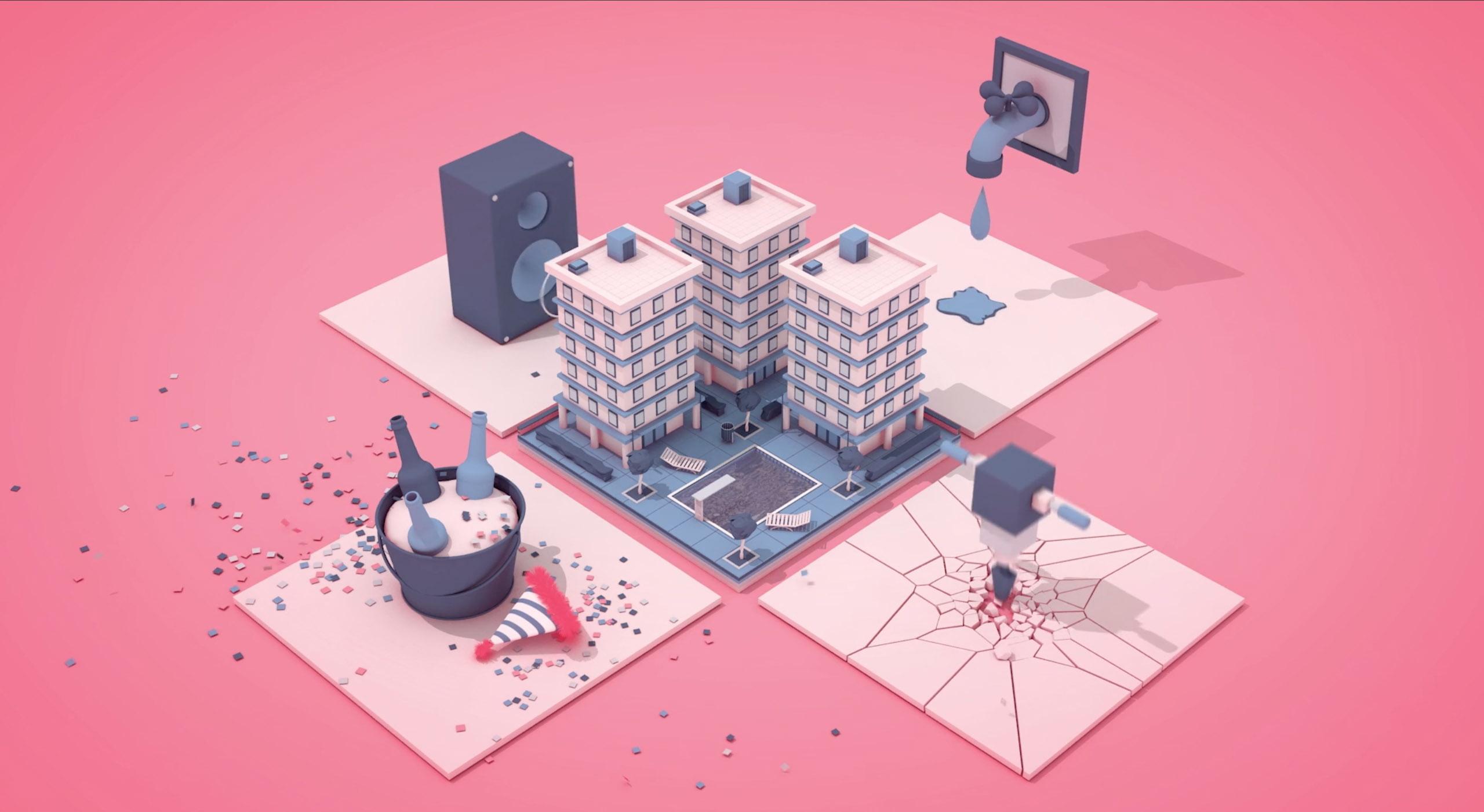rosa edificios