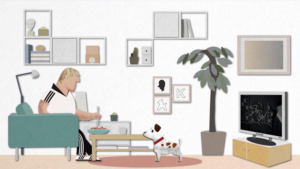 Hombre viendo tele copia