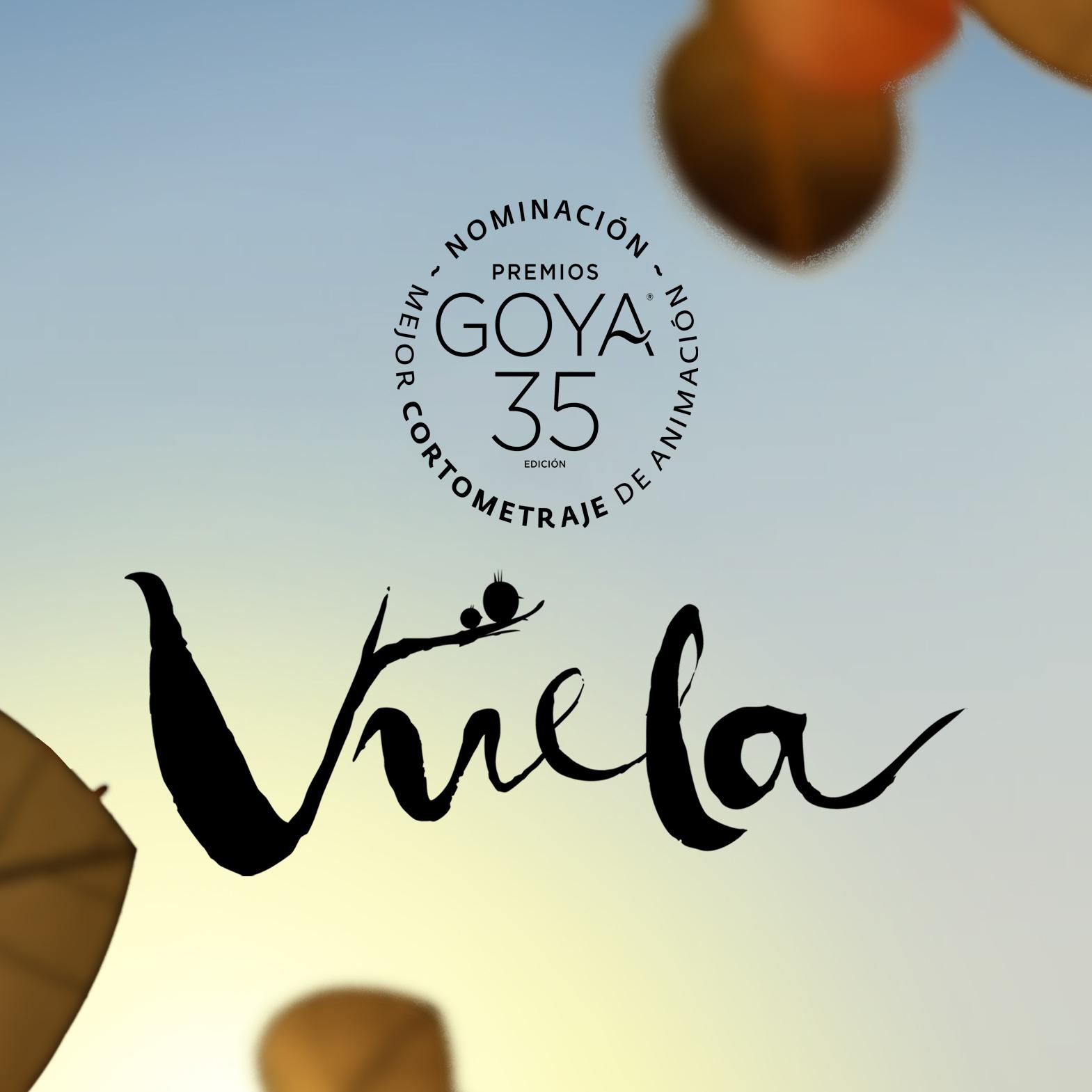 Vuela y logo Goya nominacion